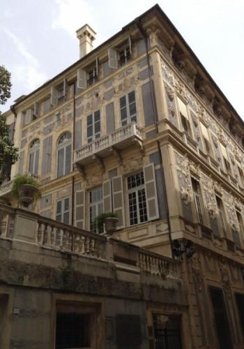 Prospetto di palazzo Lomellino restaurato da Impresa Di Martino sas Genova