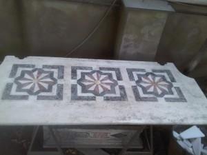 la base d'Altare restaurata